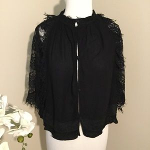Zara Woman Premium Collection Black Lace Blouse S